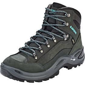 Lowa Renegade GTX Mid Shoes Women, asphalt/turquoise